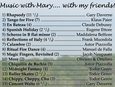 Mary Tokarski CD Tracks