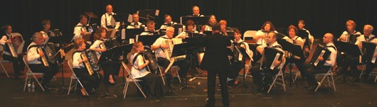 Accordion Pops Orchestra under the direction of Danny Desiderio.