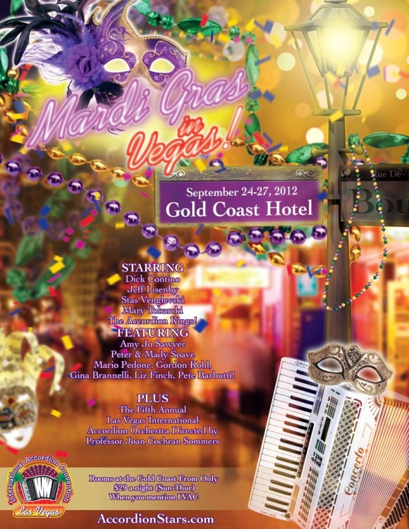 2012 Las Vegas Accordion Convention Poster