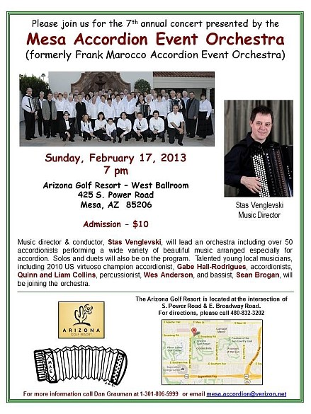 MAE Accordion Event in Arizona