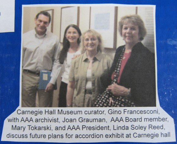 Carnegie Hall Rose Museum curator with Joan, Mary & Linda