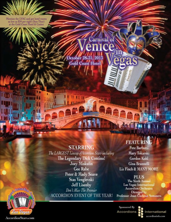 Las Vegas Accordion Convention Poster 2013