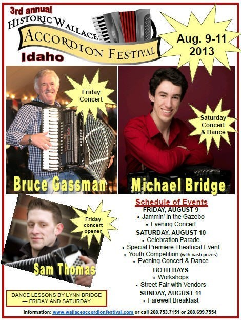 Wallace Accordion Festival 2013 Poster