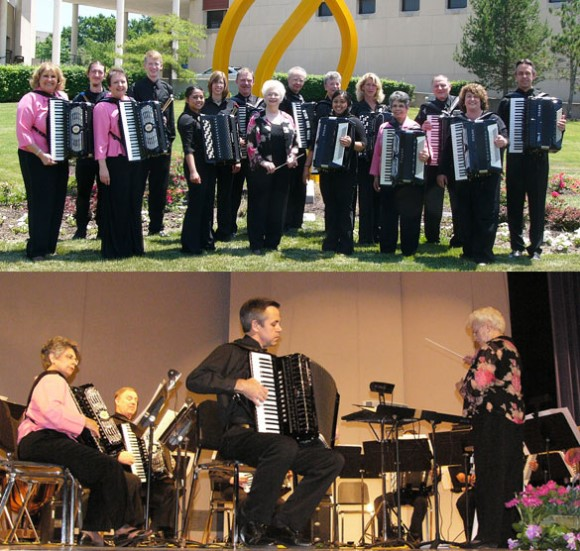 UMKC Community Accordion Orchestra, soloist Kevin Friedrich