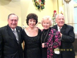 Dan Desiderio, Rosemarie Cavanaugh, plus AAA Accordion Champions Beverly Kurnow Roberts and Lou Coppola.