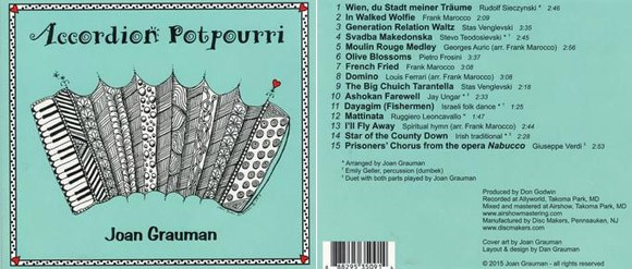 Accordion Potpourri CD by Joan Grauman