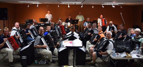 Digital Accordion Orchestra rehearsal