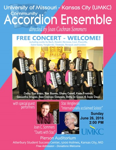 University of Missouri - Kansas City (UMKC) Community Accordion Ensemble poster