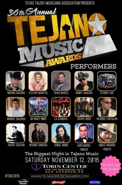 36th Annual Tejano Music Awards poster