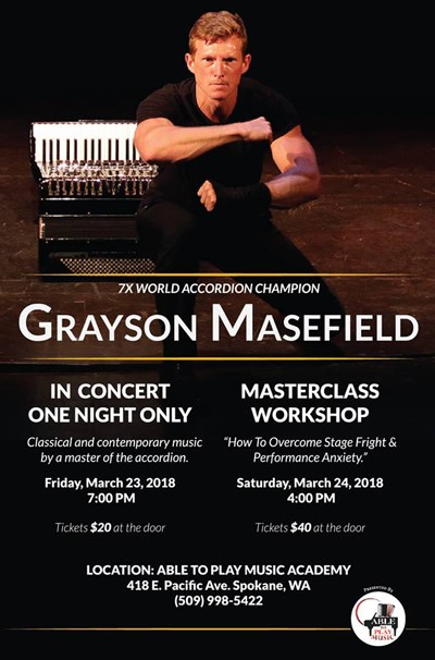 Grayson Masefield poster concert