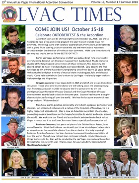 Newsletter cover, Octoberfest Las Vegas International Accordion Festival