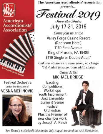 2019 AAA Festival, July 17-21, King of Prussia