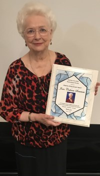 Joan Sommers with AAMS Award