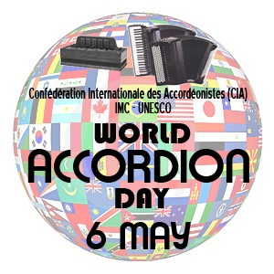 World Accordion Day logo, 6th May annually