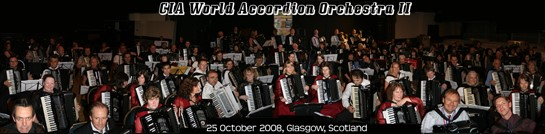 The 150 member 'CIA World Accordion Orchestra II'