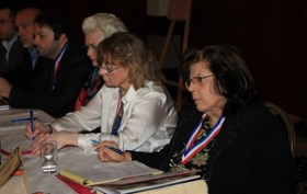 US delegates at the 120th CIA Congress, Joan Sommers, Mary Tokarski, Faithe Deffner