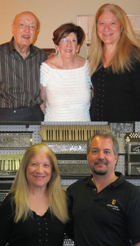 Top: Horace Lazzari, Jeanette Lazzari & Rita Davidson Lower: Rita Davidson and Joe Petosa