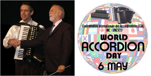 Kevin Friedrich & Gary Daverne, World Accordon Day logo