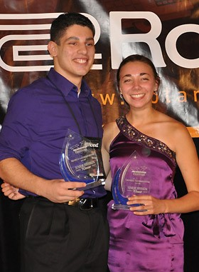 Roland winners, Daniel Pavlotsky (Junior) and Danielle Renzi (Senior)