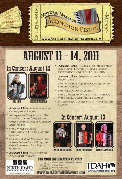 Wallace Accordion Festival Poster