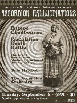 'Accordion Hallucinations' Concert poster